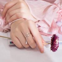 铃铛戒指女潮人学生简约清新个性食指戒饰品