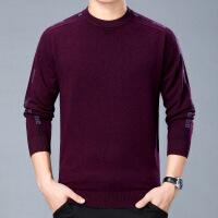 №【2019新款】冬天穿的40-50岁中年男羊绒衫毛衣圆领加厚衫打底衫