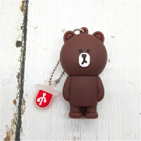 创意布朗熊 萌维尼熊可爱女生U盘16G Pooh Bear小熊维尼车载优盘 可爱女生礼物