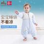 欧孕婴儿睡袋防踢被四季通用纯棉春秋加厚宝宝睡袋新生儿童
