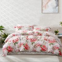 床上四件套全棉纯棉网红款北欧风少女心床单被套