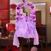 结婚挂件婚房装饰用品创意秋千情侣花球挂饰婚庆布置房门窗户