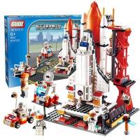 古迪儿童积木拼装玩具男孩火箭航天飞机模型拼装益智拼插玩具