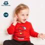 【129元选3件】迷你巴拉巴拉婴儿印花卫衣2018秋新款童装男女宝宝棉质圆领上衣