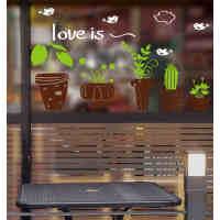 植物盆栽随心贴卧室客厅玄关走廊楼梯防水脚线三代可移除装饰壁画