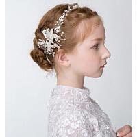 新年时尚手工珍珠儿童花环 新款花童装饰头饰公主发箍饰品