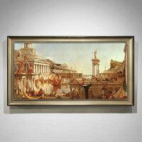 欧式油画手绘威尼斯风景建筑客厅壁画别墅挂画玄关过道装饰画定制 160*280 单幅