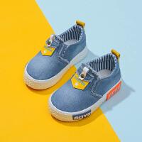 童鞋宝宝鞋牛仔帆布鞋一脚蹬休闲鞋