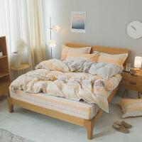床上用品四件套纯棉床单加厚磨毛简约一米五床欧式全棉现代欧美风