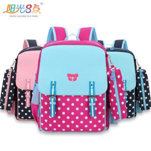 新款日式儿童背包透气减负小学生书包1-4年级男女学生皮双肩书包