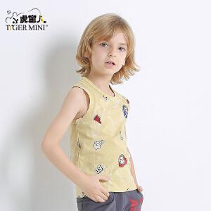 男童夏装儿童纯棉无袖背心吊带11-13周岁2018新品小虎宝儿童装