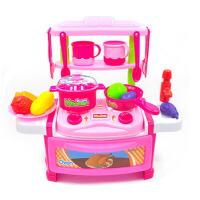 过家家厨房玩具带灯光声效仿真煮饭做饭可出水厨房玩具男女孩