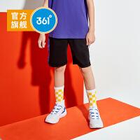 【折后叠券预估价:39】361度童装 男童针织裤2021夏季新品中大童儿童休闲运动五分裤子