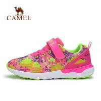骆驼户外女童网面运动鞋中童儿童舒适休闲鞋