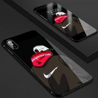 iphone6套6s小米8se手机7p壳max3mix2s华为p20pro玻璃壳nova3夜光壳vi 苹果X 背影