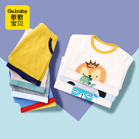 【专区99选5叠加优惠券】歌歌宝贝男宝宝短袖套装婴儿薄款夏装纯棉衣服儿童卡通运动两件套