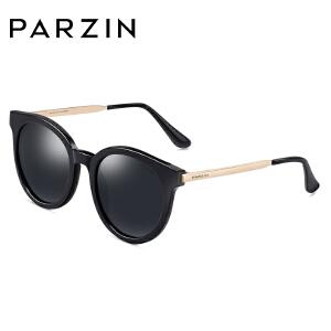 帕森时尚偏光太阳镜板材金属框大框复古潮流墨镜女款优雅9672