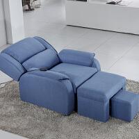 足疗沙发电动足浴沙发躺椅沐足沙发美容美甲沙发椅按摩床泡脚沙发 电动沙发 蓝色