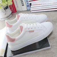 20190923081523190鞋子女学生韩版百搭小白鞋女学生白色板鞋柔软休闲平底女单鞋
