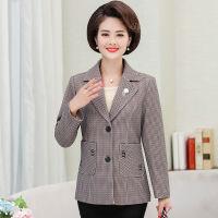 妈妈装秋装外套短款40到50岁中年妇女装春秋小西装中老年洋气薄款 XL (建议95-108斤)