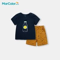 马卡乐童装2020夏季新款 全棉面料萌趣可爱套装