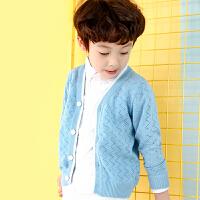 童装男童儿童V领开衫中大童针织外套