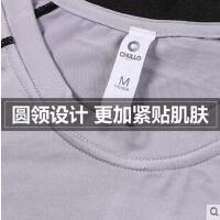 健身服男运动紧身衣弹力跑步短袖T恤夏速干篮球打底衫跑步训练服