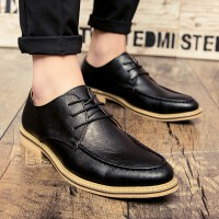 夏季皮鞋男时尚百搭休闲鞋驾车鞋发型师鞋绅士男鞋品牌新款超纤皮正装鞋