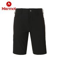 Marmot/土拨鼠春夏男士户外弹力速干五分短裤