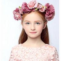 新款欧美时尚儿童花朵发夹 新年儿童礼服女童配饰花童头饰