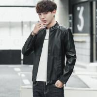 2018秋季新款男士机车皮衣修身外套立领PU皮夹克韩版潮流帅气皮尤