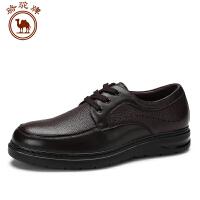 骆驼牌 秋季男鞋圆头系带商务休闲男皮鞋舒适耐磨男士鞋子