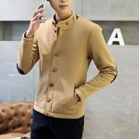 千帅 男士加绒开衫卫衣秋冬季长袖宽松外套韩版潮流上衣服扣子外套9902