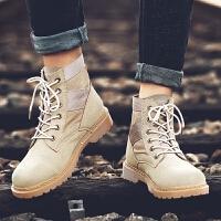 夏季时尚夏季男士马丁靴高帮短靴军靴中帮透气英伦风沙漠靴工装靴子男鞋子