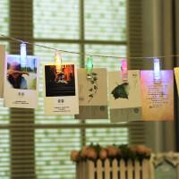 LED创意相片夹子灯串霓虹小彩灯房间装饰灯挂灯照片墙装扮灯