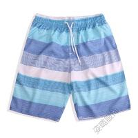 情侣沙滩裤海边套装度假蜜月男女夏装速干加肥加大码宽松薄款裤衩