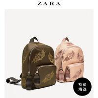 ZARA TRF时尚小清新韩式女包 日式学生用书包刺绣面料背包