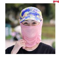 脸遮阳帽迷彩可折叠遮脸防紫外线防晒帽子女夏天骑车护男女太阳帽可礼品卡支付