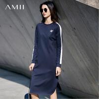 Amii[极简主义]春新品时尚休闲宽松显瘦卫衣裙连衣裙11730085
