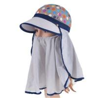 夏天户外帽女遮脸电动车防晒帽骑车大沿帽子