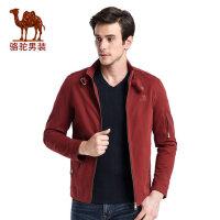 camel 骆驼男装 春季时尚纯色立领散口袖日常休闲夹克衫男外套