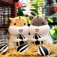 可爱仓鼠抱瓜子羽绒棉公仔大号及软毛绒玩具女生生日礼物