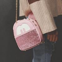 2018新款品牌米奇旅行小背包可爱卡通双肩包时尚个性三用包多用铆钉休闲小包包