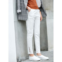 【到手价:102元】Amii秋装修身显瘦小脚休闲长裤女弹力高腰
