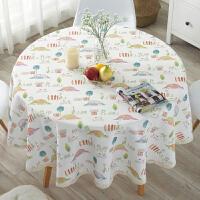 欧式台布桌布布艺格子大圆桌餐桌垫防水防烫防油免洗圆形桌垫家用