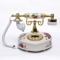至臻时尚创意欧式仿古电话机来电显示陶瓷韩式田园 家用办公
