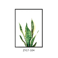 TROUT北欧装饰画 客厅沙发背景墙植物吊篮挂画餐厅壁画 70×100 铝合金黑色(带有机玻璃) 单幅价格,