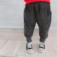 儿童灯芯绒裤子哈伦裤女宝宝保暖裤