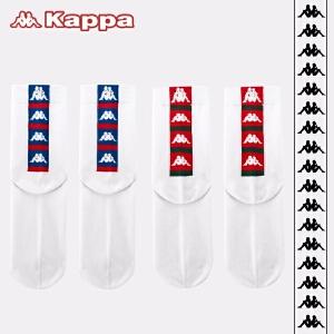 Kappa/卡帕(2双装)女袜子透气休闲创意潮流棉袜KP8W28