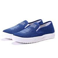 女鞋休闲鞋软平底板鞋低帮一脚蹬布鞋浅口单鞋潮